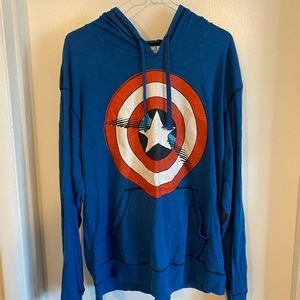 Marvel comics captain America size Large hoodie